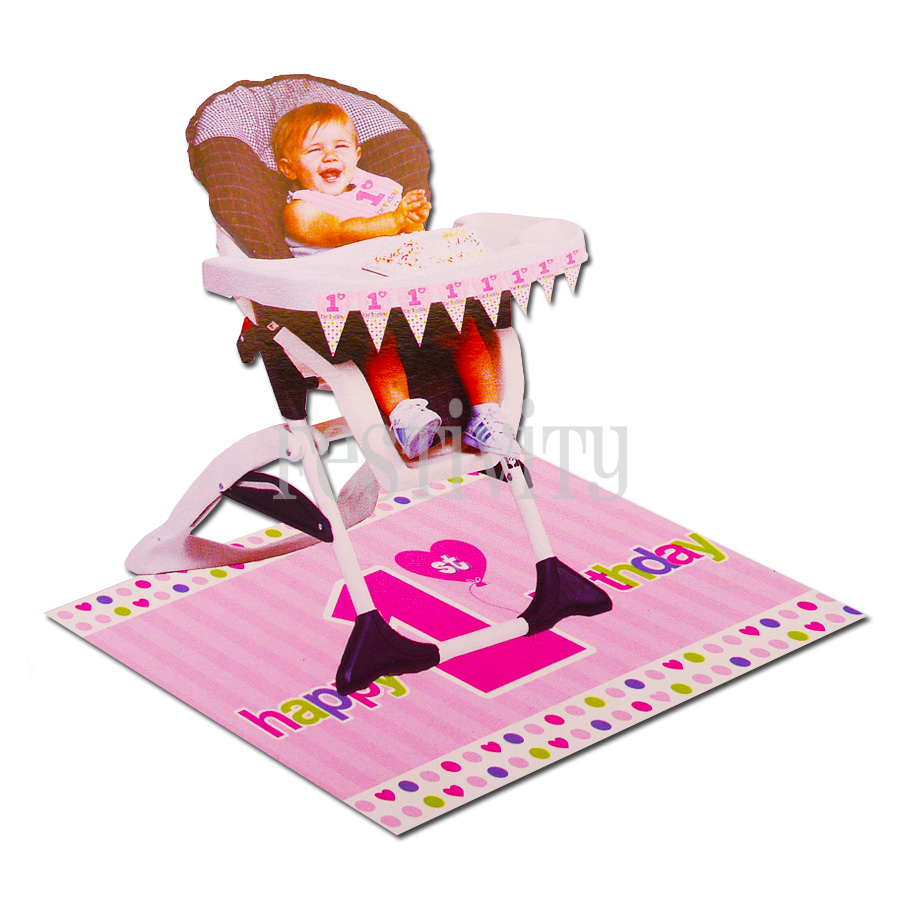 Girl's First Birthday High Chair Kit
